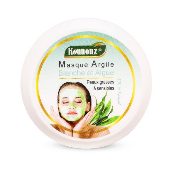 masque tunisien à l'argile blanche et aux algues