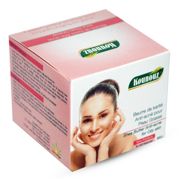 Beurre de karité anti-acné pour peau grasse Tunisie